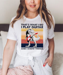 dinosaur that s what i do i play guitar and i know things vintag 19