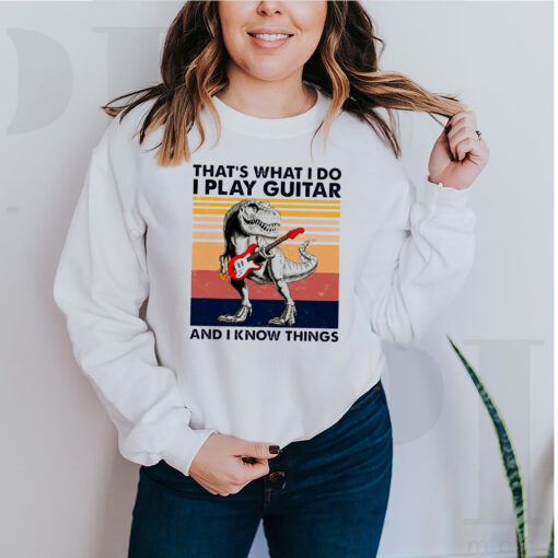dinosaur that s what i do i play guitar and i know things vintag 5