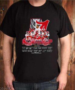 Alabama Crimson Tide 2021 college football national Championship signature shirt