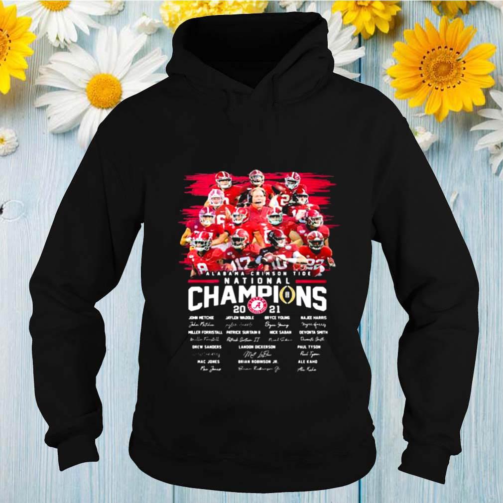 Alabama Crimson Tide College Football Playoff National Champions 2021 Signature shirt
