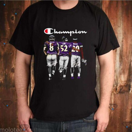 Baltimore Ravens Champion Jackson Lewis Reed signature shirt