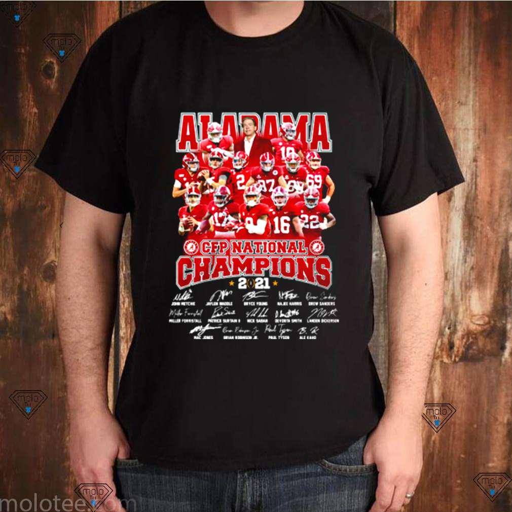 CFP national champion Alabama football team 2021 players signature shirt