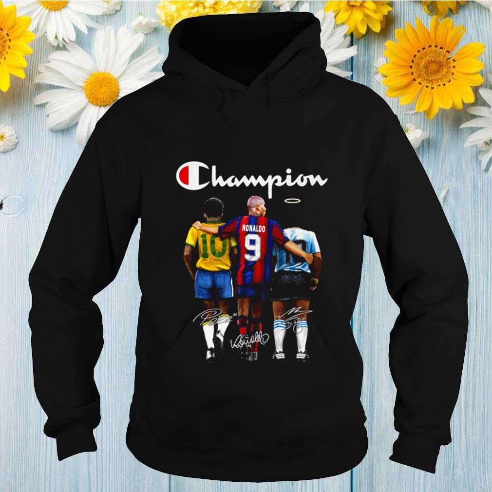Champion Pele 10 Ronaldo 9 Maradona 10 signatures shirt