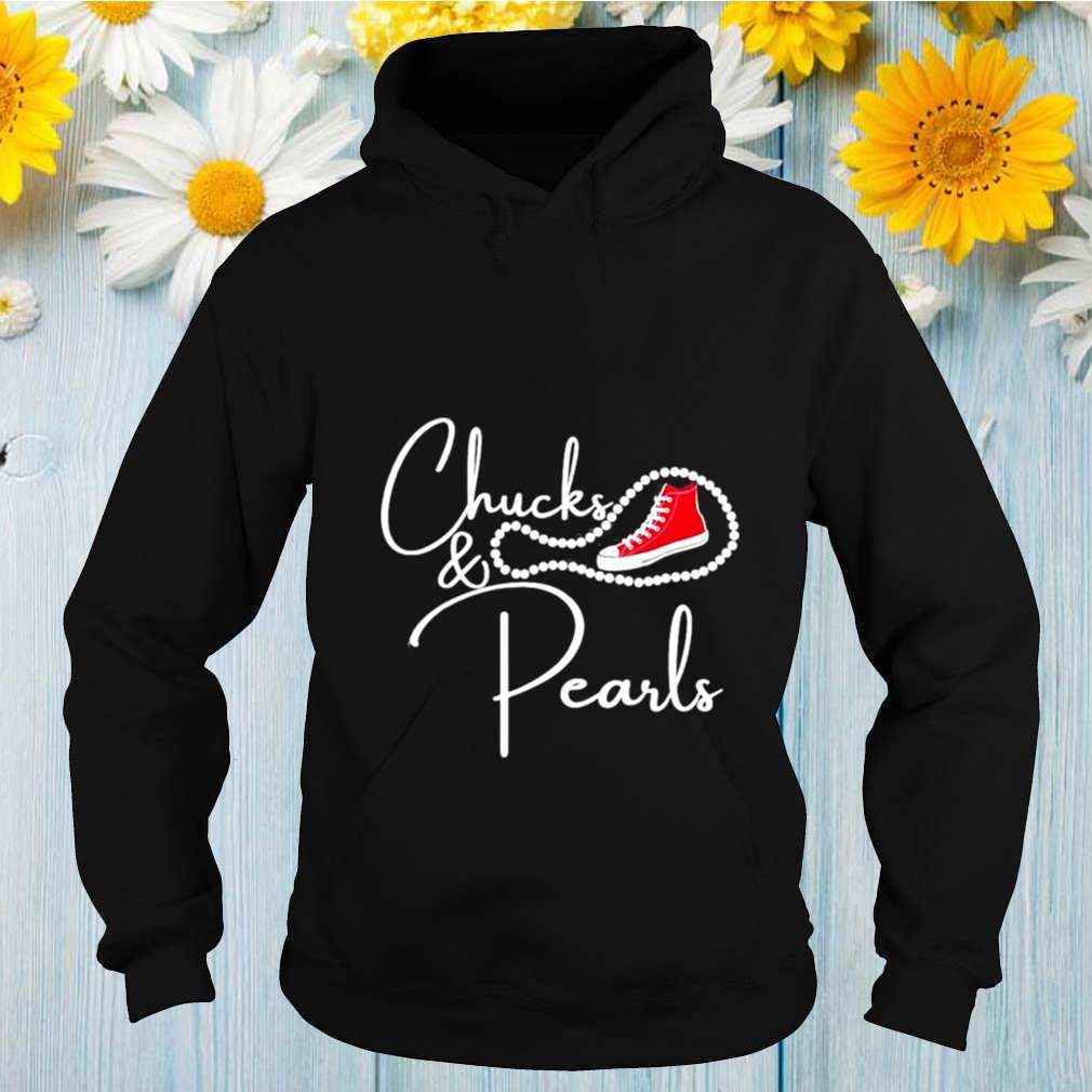 Chucks and Pearls 2021 HBCU Black Girl Magic Red shirt