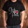 Chucks and Pearls 2021 Valentine Heart HBCU Red Gift shirt