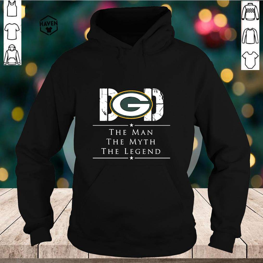 Dad Green Bay Packer Football The Man The Myth The Legend Shirt 2