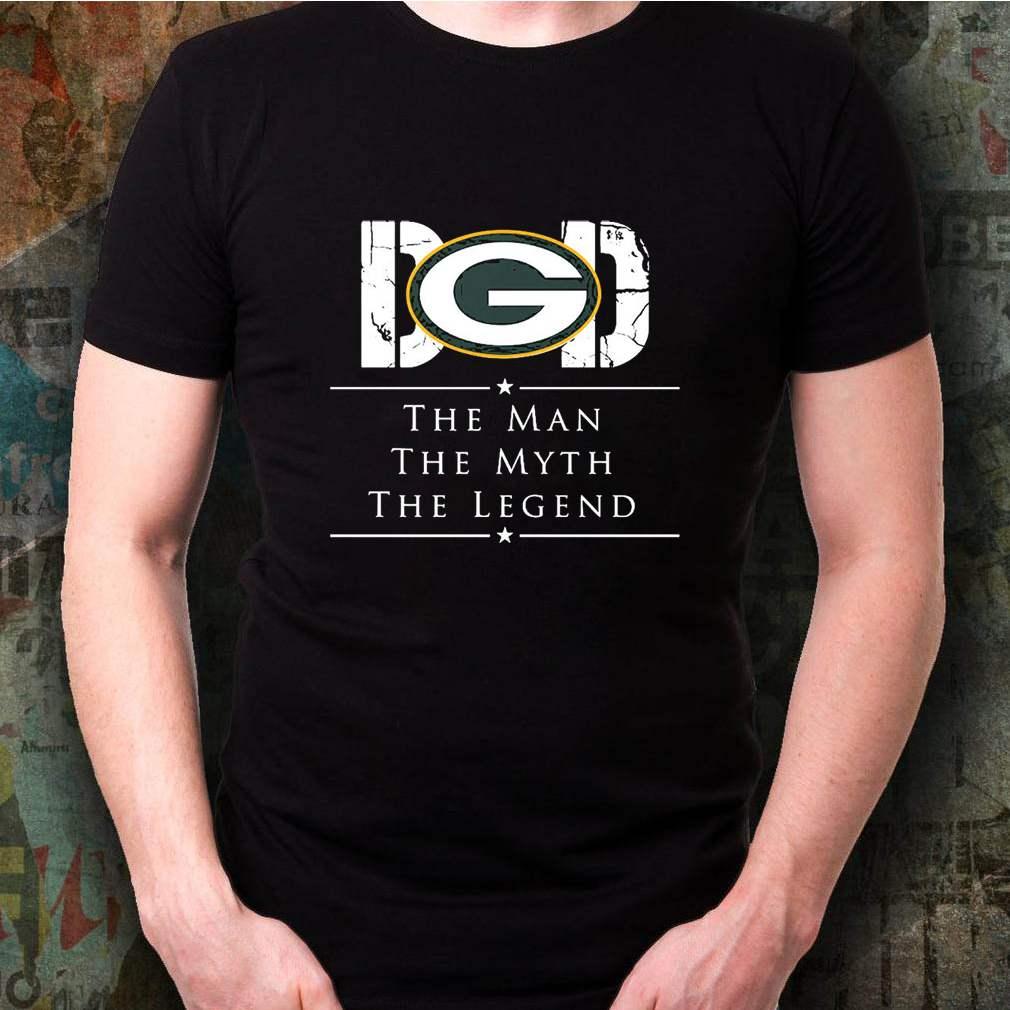 Dad Green Bay Packer Football The Man The Myth The Legend Shirt