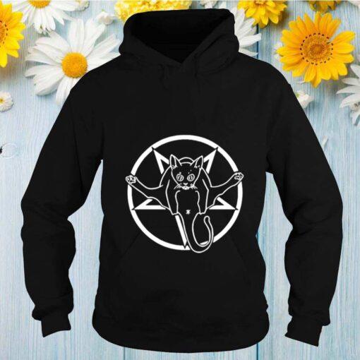 Grimytee Hail Catan Cat Satan Devil Sign by Finja shirt
