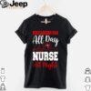 Heartbeat Tampa Bay Buccaneers fan all day nurse all night shirt
