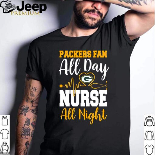 Heartbeat this nurse loves Packers shirt 2