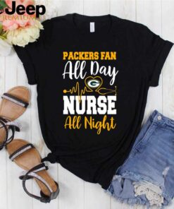 Heartbeat this nurse loves Packers shirt 3