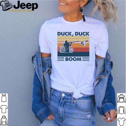 Hunting duck duck boom vintage shirt 6
