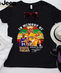 In memory of Kobe Bryant january 26 2021 signature vintage shirt