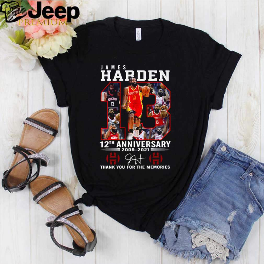 James Harden 13 12th anniversary 2009 2021 thank you for the memories shirt 3