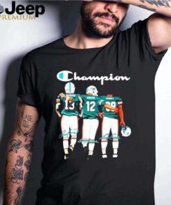 Miami dolphin champion marino griese csonka signatures shirt
