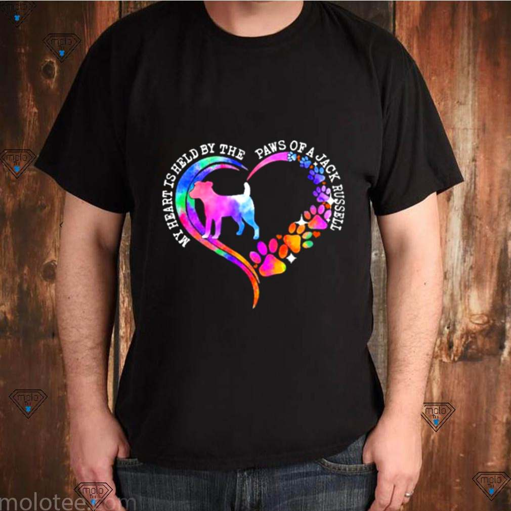 My heart is held by the paws of a jack russell 2021 shirt