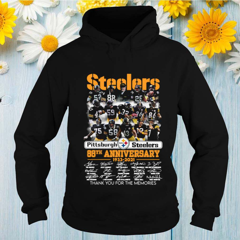 Pittsburgh Steelers 88th Anniversary 1933 2021 Thank For The Memories Signuature shirt