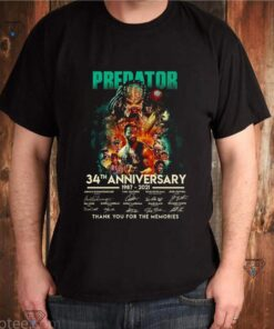 Predator 34th anniversary 1987 2021 thank you for the memories shirt