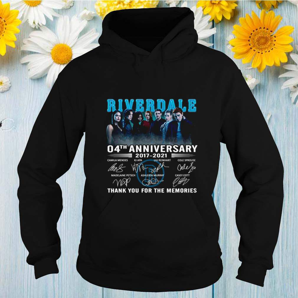 Riverdale 4th anniversary 2017 2021 thank you for the memories shirt