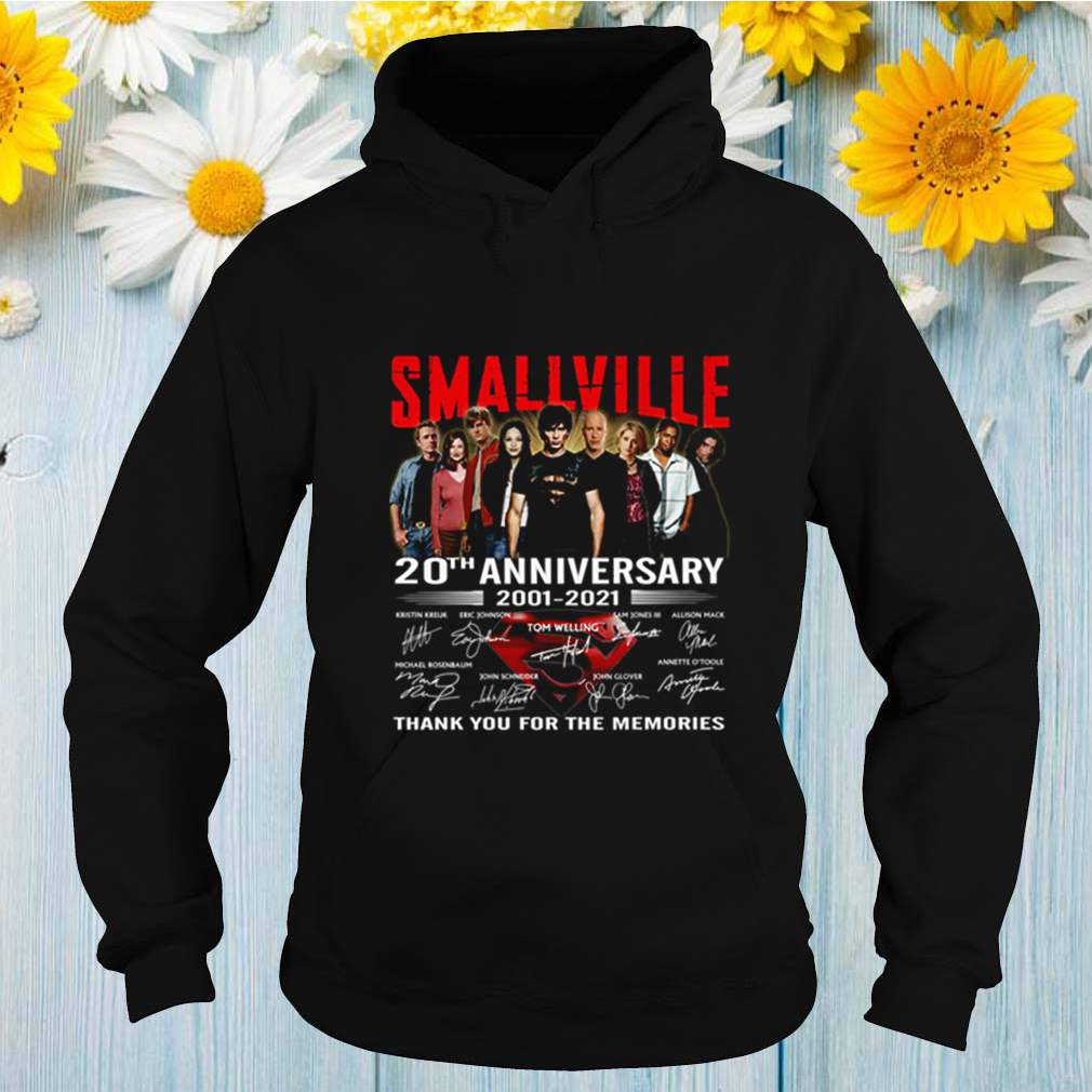 Smallville 20th anniversary 2001 2021 thank you for the memories shirt