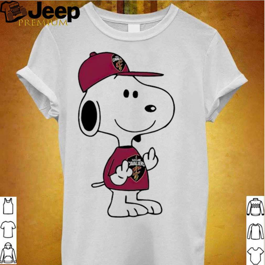 Snoopy Cleveland Cavaliers NBA Double Middle Fingers Fuck You shirt 3