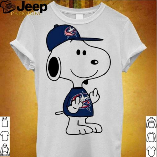 Snoopy Columbus Blue Jackets NHL Double Middle Fingers Fck You shirt