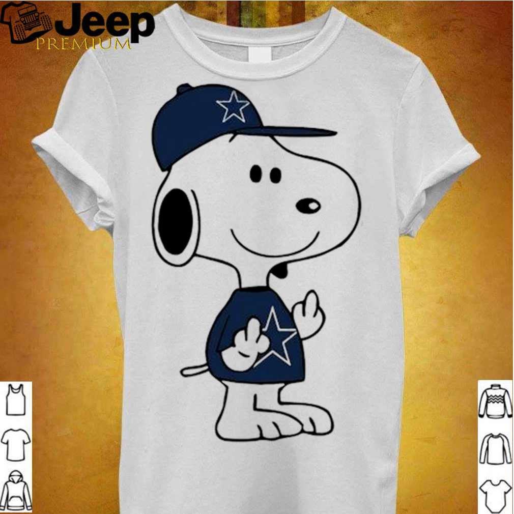 Snoopy Dallas Cowboys NFL Double Middle Fingers Fck You shirt 3