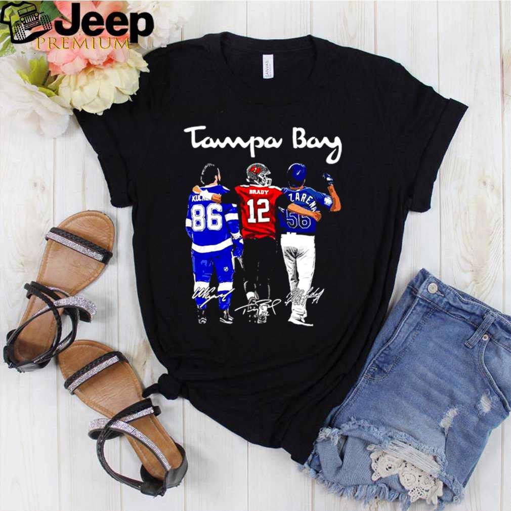 Tampa Bay Nikita Kucherov Brady And Arozarena Signatures shirt 2