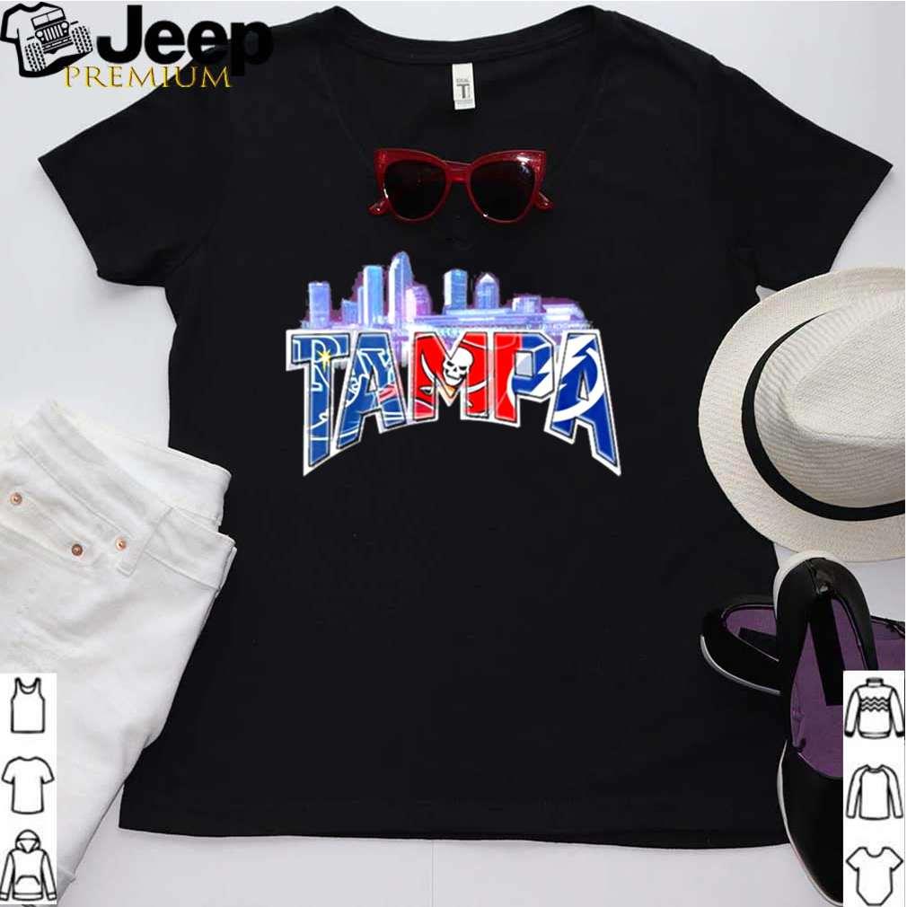 Tampa sports team Tampa Bay Rays Tampa Bay Lightning Tampa Bay Buccaneers Los Angeles City shirt 2