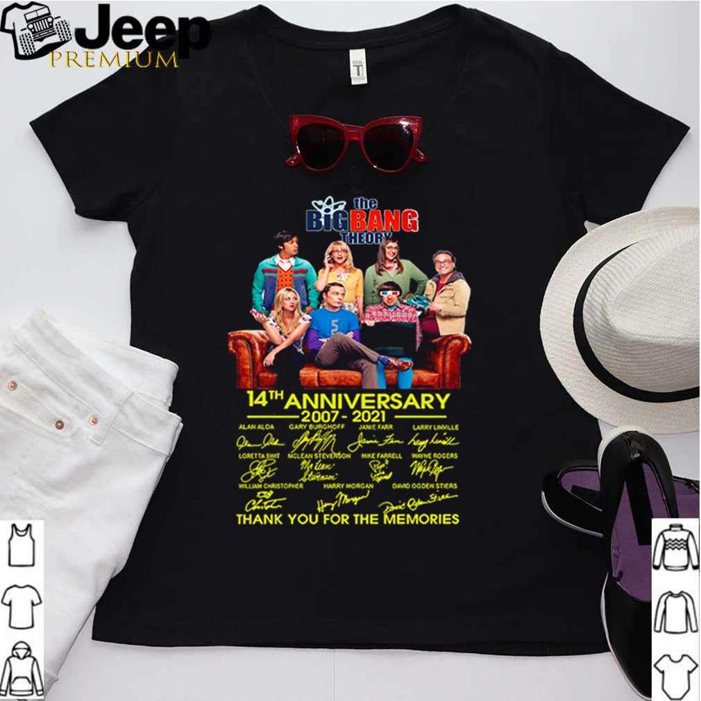 The Big Bang Theory 14th anniversary 2007 2021 thank you for the memories shirt 2