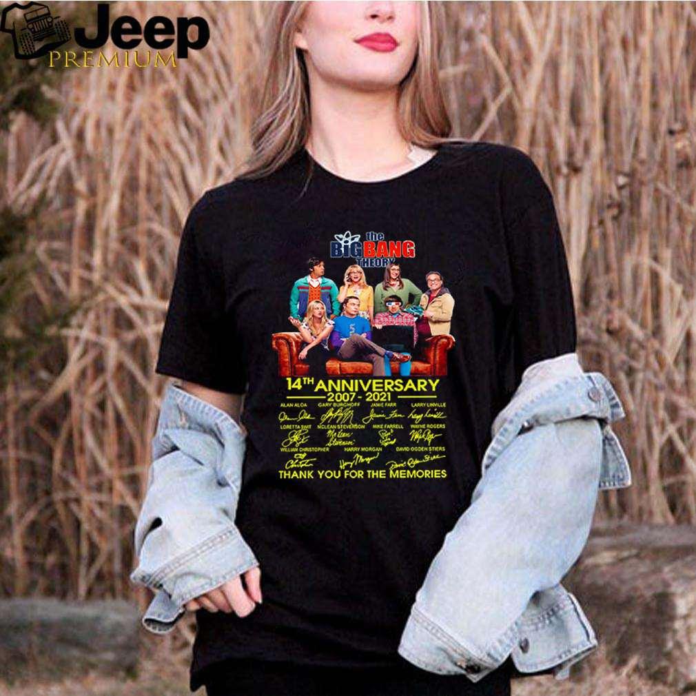 The Big Bang Theory 14th anniversary 2007 2021 thank you for the memories shirt 3