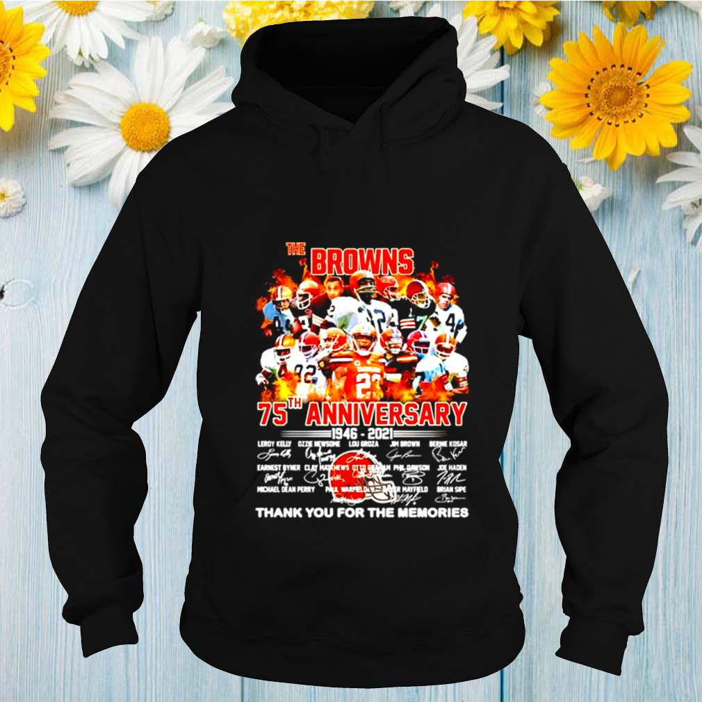 The Cleveland Browns 75th anniversary 1946 2021 thank you for the memories shirt