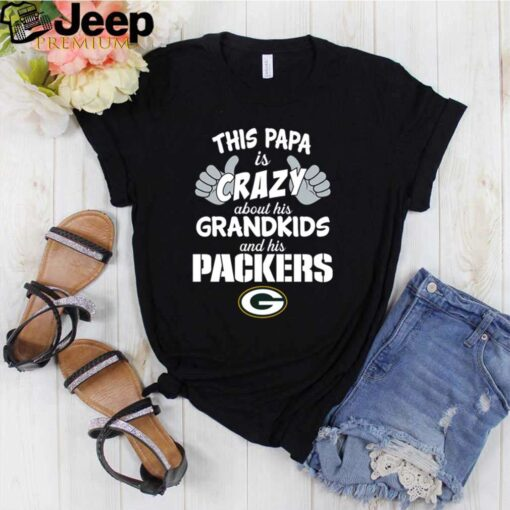 This Papa is crazy about his grandkids and his Green Bay Packers shirt