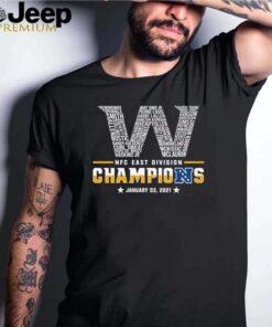 Washington Football Team NFC east division Champions January 03 2021 shirt