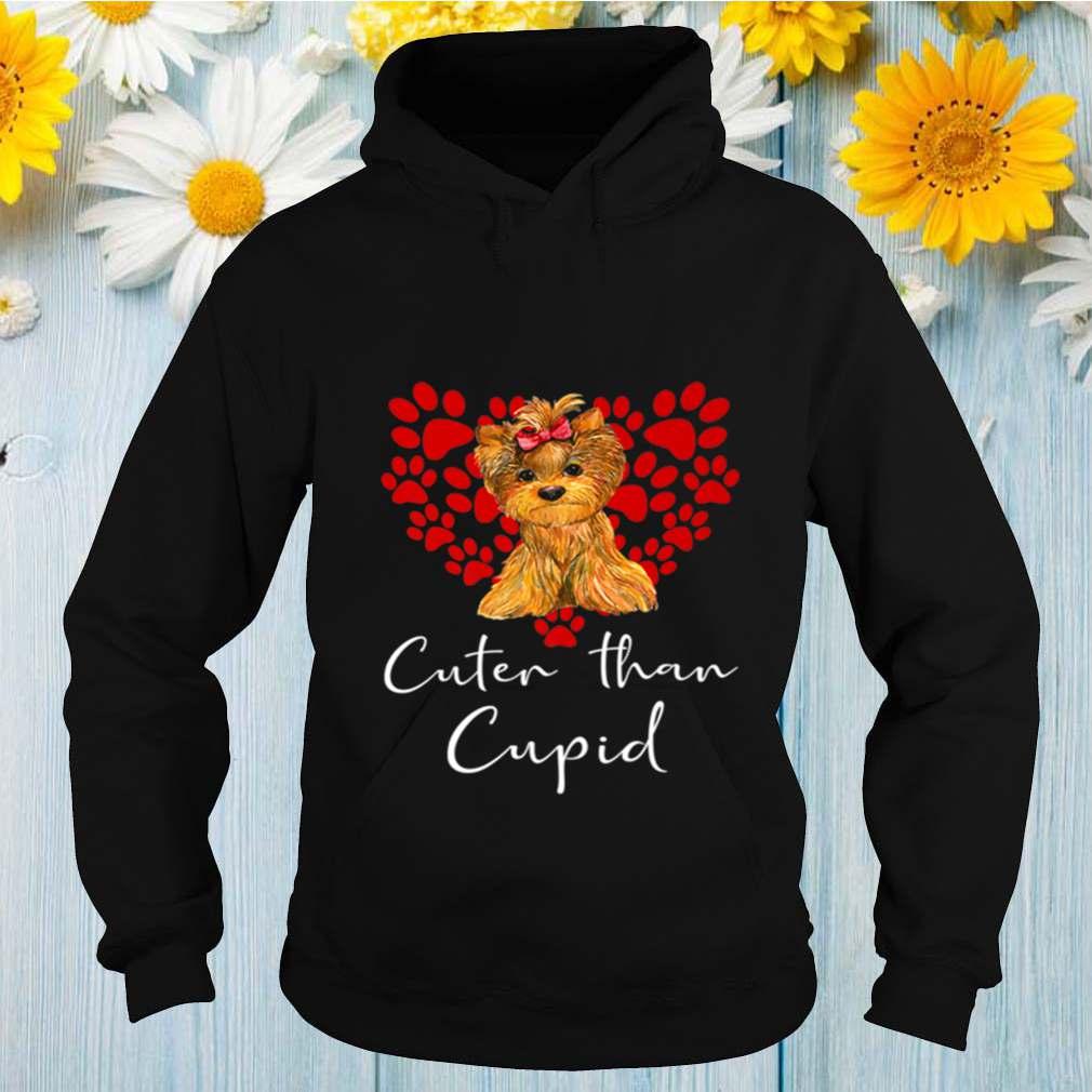 YORKSHIRE TERRIER Dog Than Cupid Valentines Day YORKI shirt