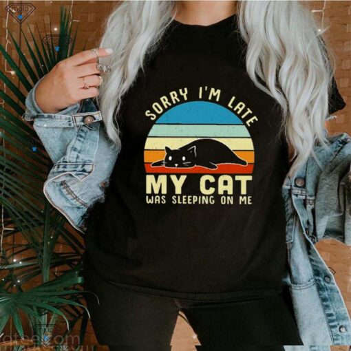 sorry i'm late my cat was sleeping on me vintage shirt