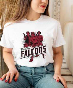 Atlanta Falcons NFL Star Wars Rebels Skywalker Leia and Han Solo shirt 3