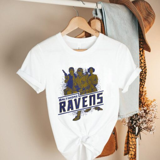 Baltimore Ravens NFL Star Wars Rebels Skywalker Leia and Han Solo shirt 2
