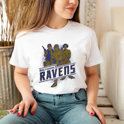 Baltimore Ravens NFL Star Wars Rebels Skywalker Leia and Han Solo shirt 3
