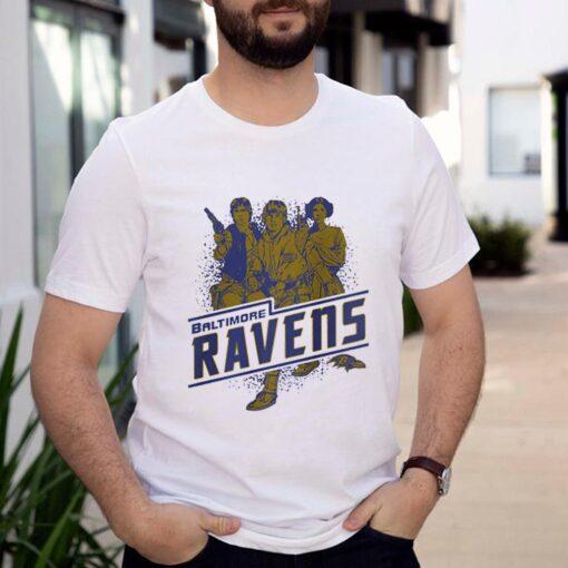 Baltimore Ravens NFL Star Wars Rebels Skywalker Leia and Han Solo shirt