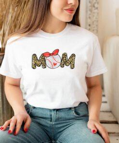 Baseball Moms Sport Mom Leopard Lover Cheer Softball Mama T Shirt 3