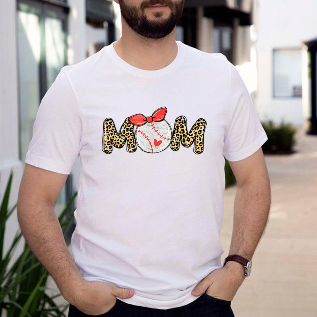 Baseball Moms Sport Mom Leopard Lover Cheer Softball Mama T Shirt