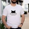 Black cat my life is ruled by a tiny furry overlord shirt