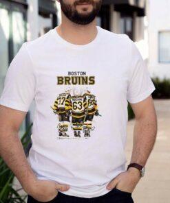 Boston Bruins Bergeron 37 Marchand 63 Pastrnak 88 signatures shirt
