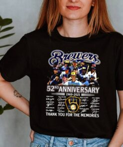 Brewers 52nd anniversary 19692 2021 thank you for the memories signatures shirt 2