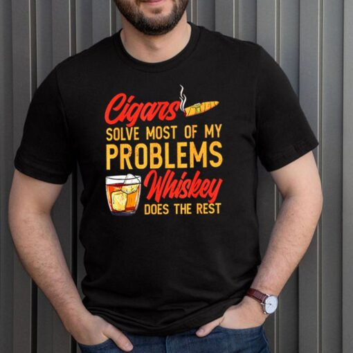 Cigar anatomy smoker solve most of my problems whiskey does the rest shirt 3