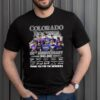 Colorado Rockies 28th anniversary 1993 2021 thank you for the memories signatures shirt 1