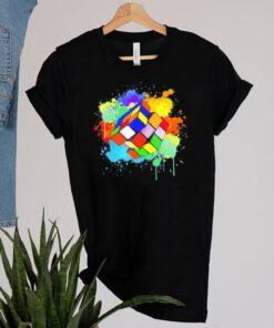 Cool rubik rubix rubics player cube watercolor lovers shirt 2