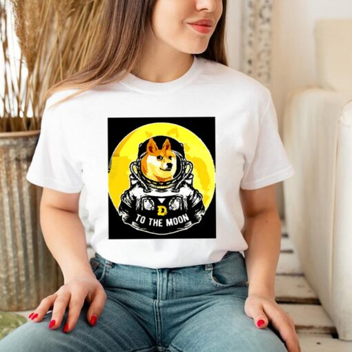 Dogecoin to the moon shirt 3 3