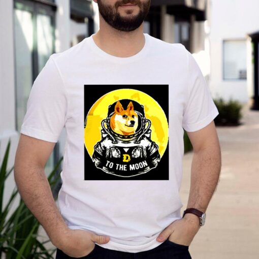 Dogecoin to the moon shirt 3